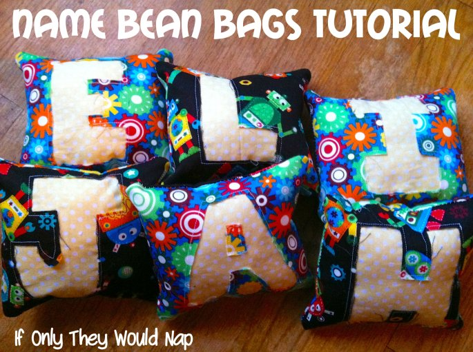 name bean bags tutorial