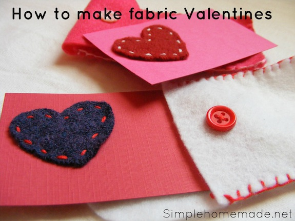 how to make fabric valentines