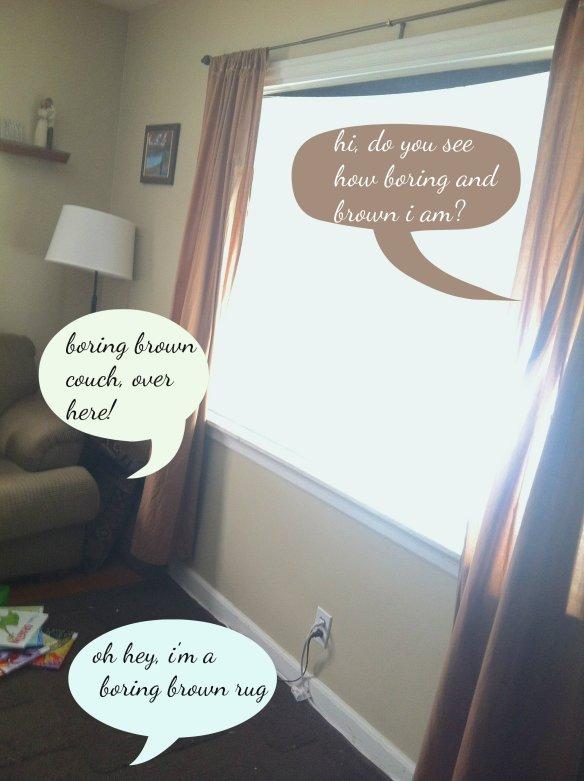 boring brown living room