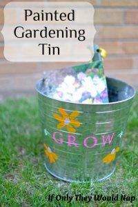 Painted Gardening Tin