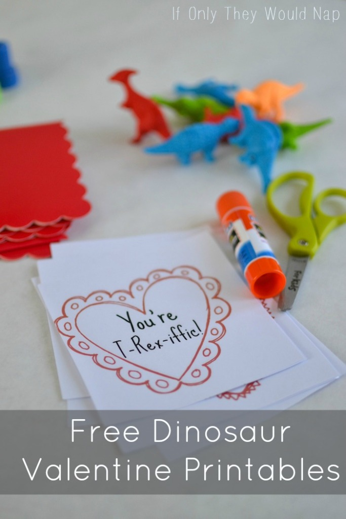 Free Dinosaur Valentine Printables