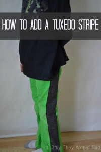 how to add a tuxedo stripe to pants
