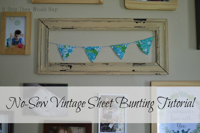No Sew Vintage Sheet Bunting Tutorial