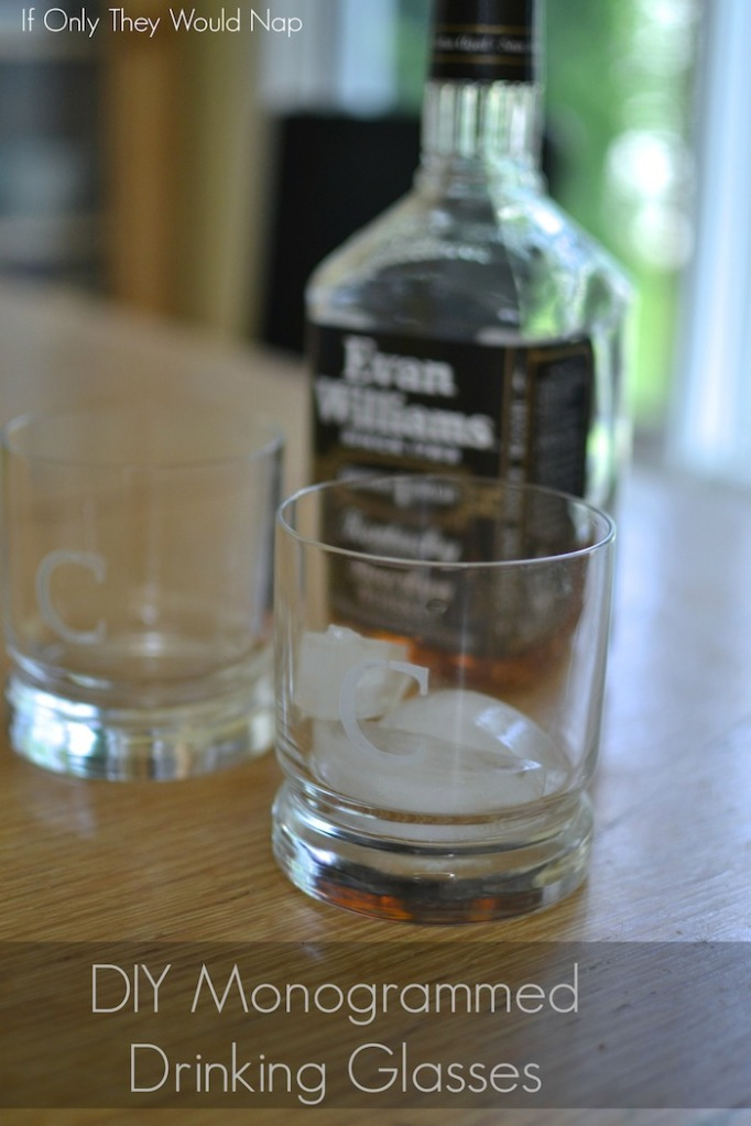 DIY Monogrammed Drinking Glasses