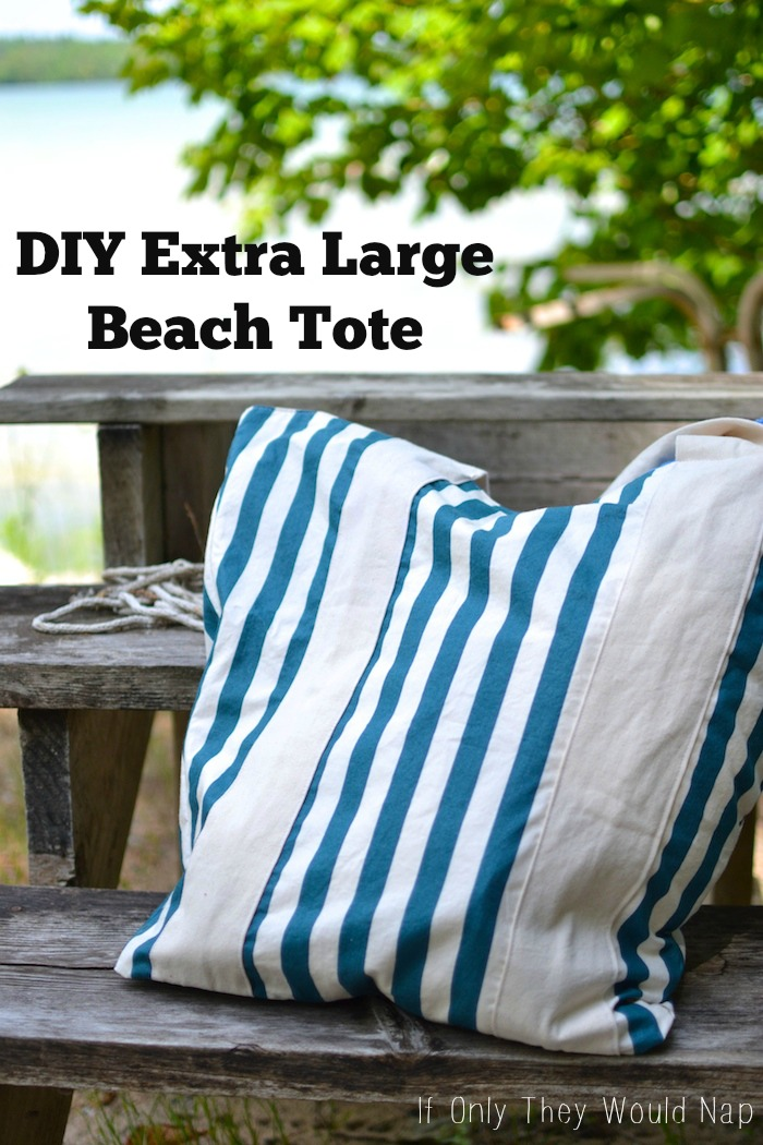 DIY Extra Large Beach Tote