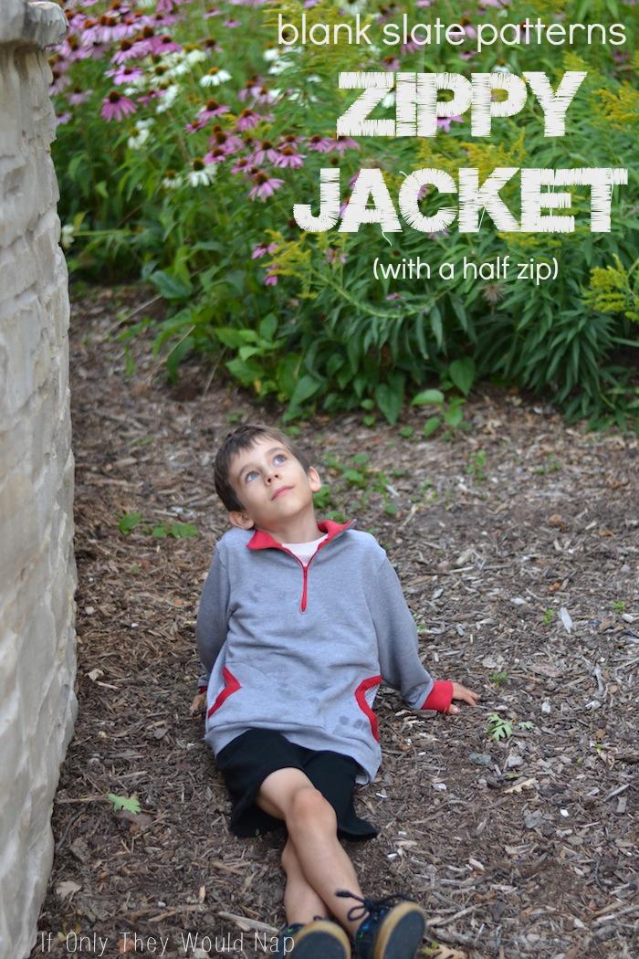 Zippy Jacket with a half zip