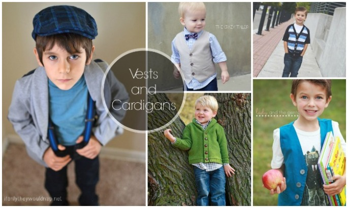 vests and cardigans for boys