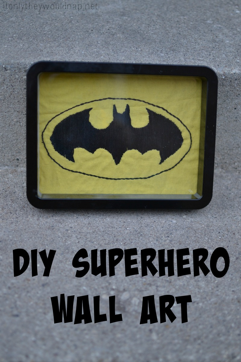 Handmade Gifts for Boys day 5 - DIY Superhero Wall Art ...