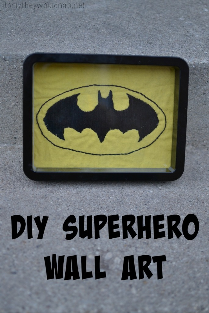 DIY Superhero Wall Art