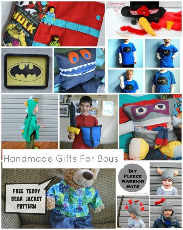 33 handmade gifts for boys tutorials free patterns for Easy diy gifts for boys