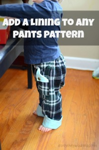 Add a lining to any pants pattern