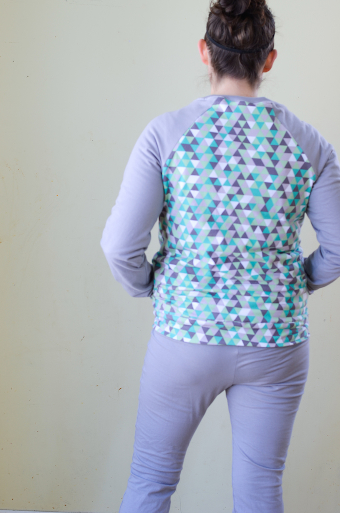 Zinnia Jacket by Blank Slate Patterns sewn by If Only They Would Nap in Riley Blake knit fabrics