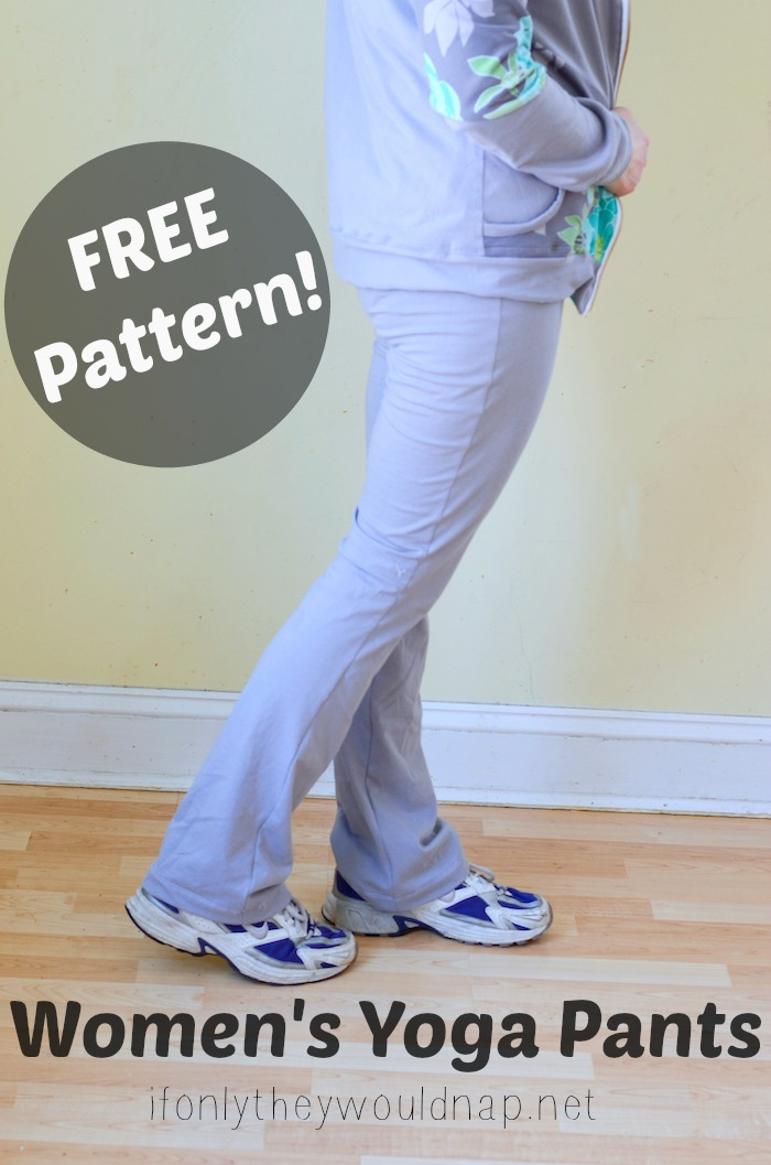 FREE Women's Yoga Pants Pattern from If Only They Would Nap
