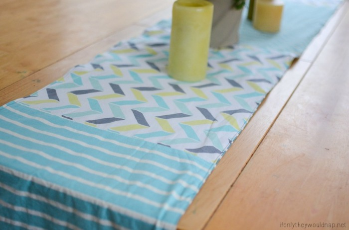 make a simple spring table runner