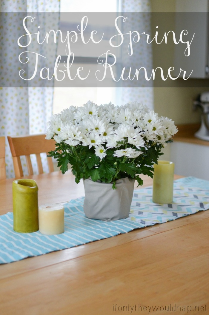 Simple Spring Table Runner Tutorial