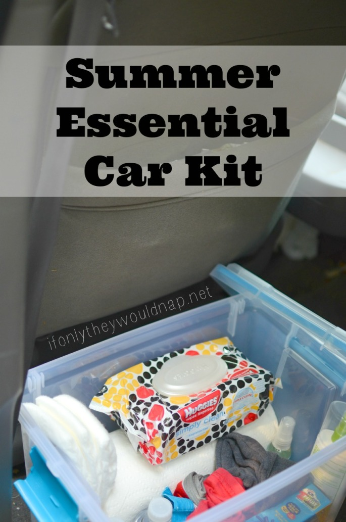 Summer Essential Car Kit - help curb all the mini-disasters that happen away from home
