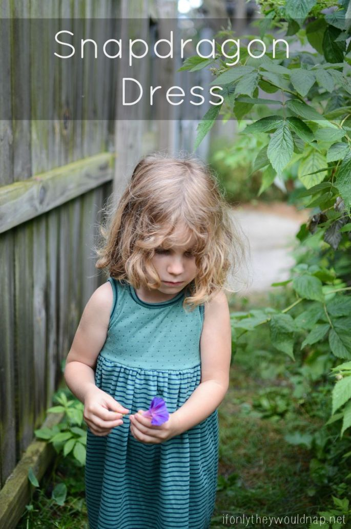 Snapdragon Dress pattern by Sew Like My Mom sewn by If Only They Would Nap