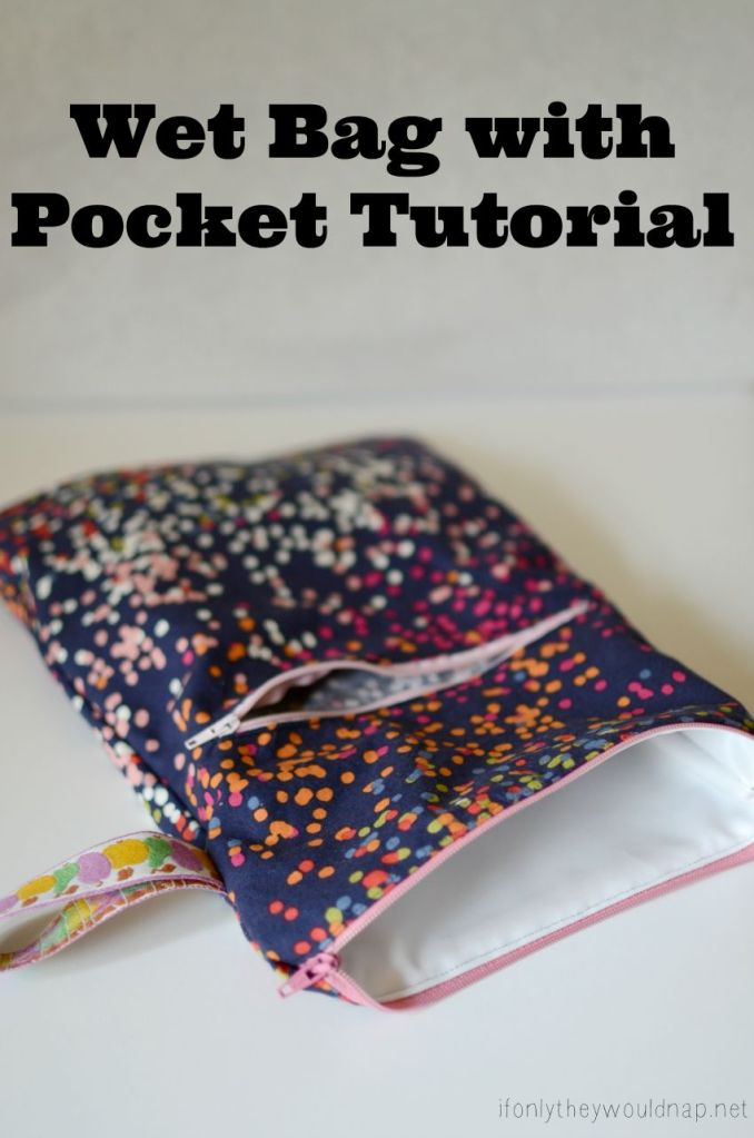 Wet Bag with Pocket Tutorial