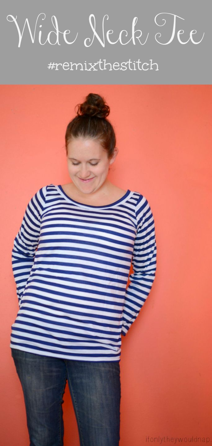 Wide Neck Tee from If Only They Would Nap