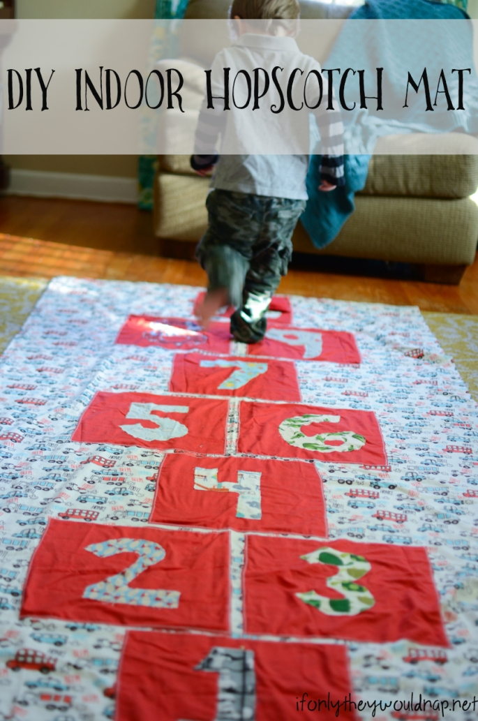 DIY Indoor Hopscotch Mat