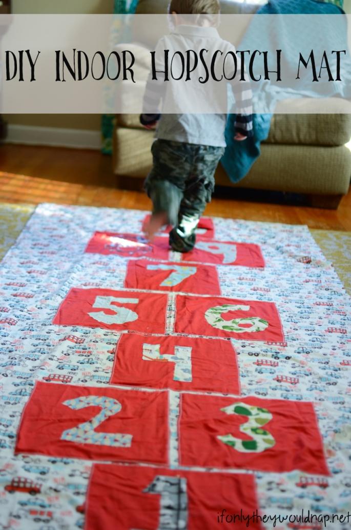 DIY Indoor Hopscotch Mat