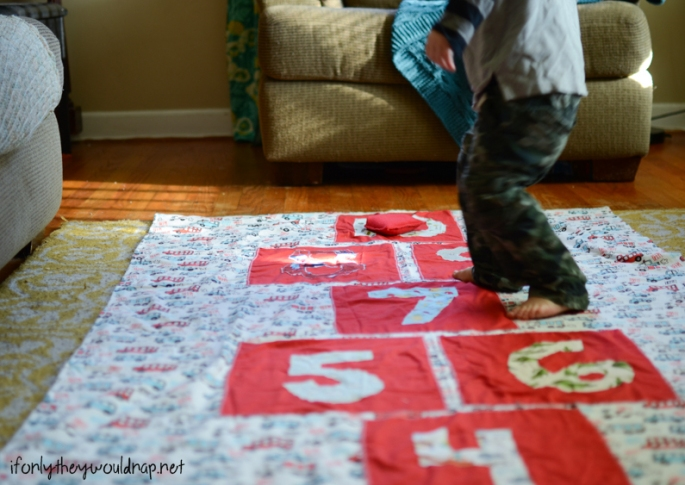 Indoor Hopscotch Mat Tutorial