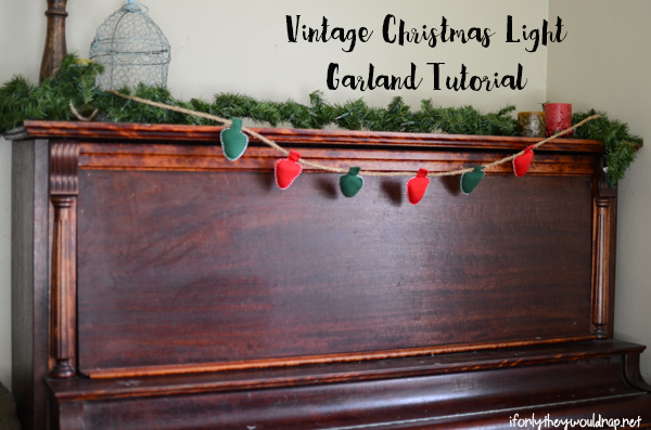 vintage christmas light garland tutorial