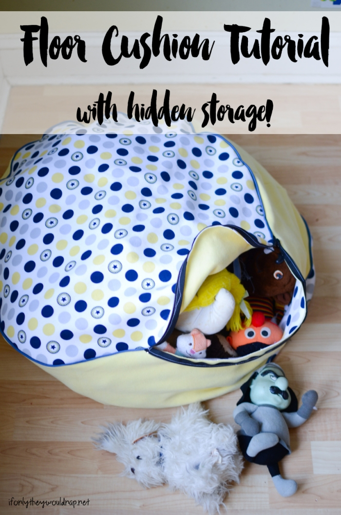 floor cushion tutorial with hidden storage