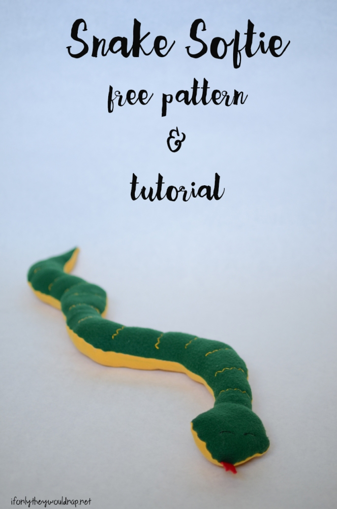 Snake softie free pattern and tutorial