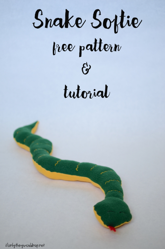 Handmade Gifts for Boys Day 3: Snake Stuffie Free Pattern and ...