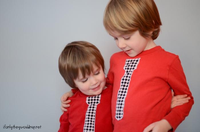 free pattern for boys tie tshirt