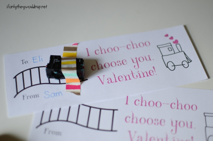 Train Valentine Printable