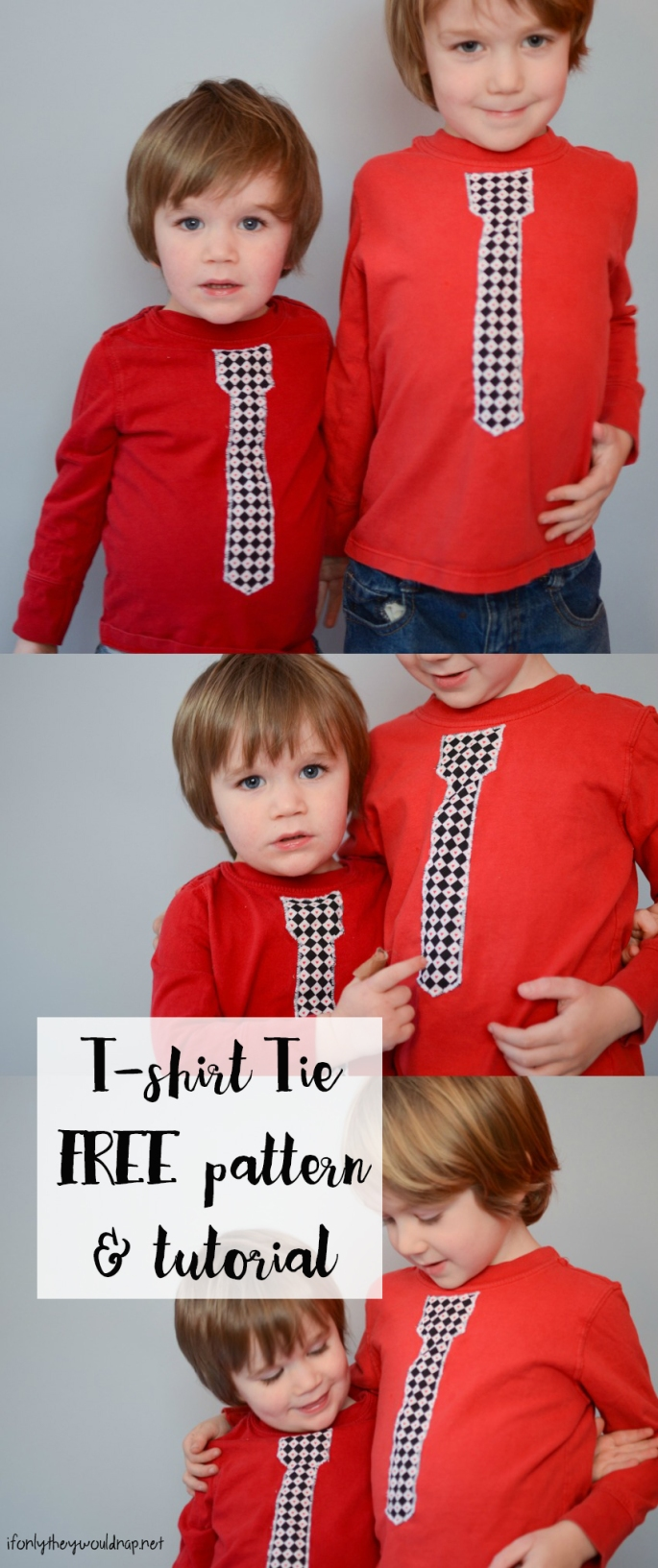 Tshirt Tie FREE pattern and tutorial