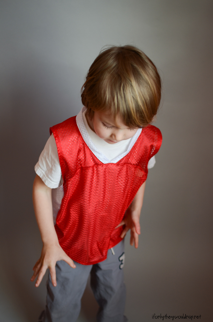Just a (Basketball) Jersey Sewing Pattern by Blank Slate Patterns; hacked and sewn by If Only They Would Nap
