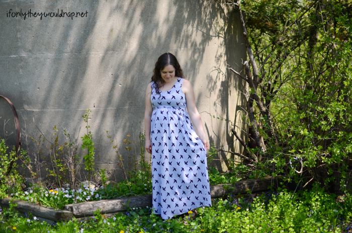 Modify a sewing pattern for maternity - Catalina Dress by Blank Slate Patterns sewn by If Only They Would Nap